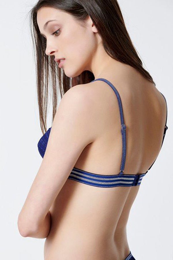 LACE TRIANGLE BRA WITH TRANSPARENT DETAILS